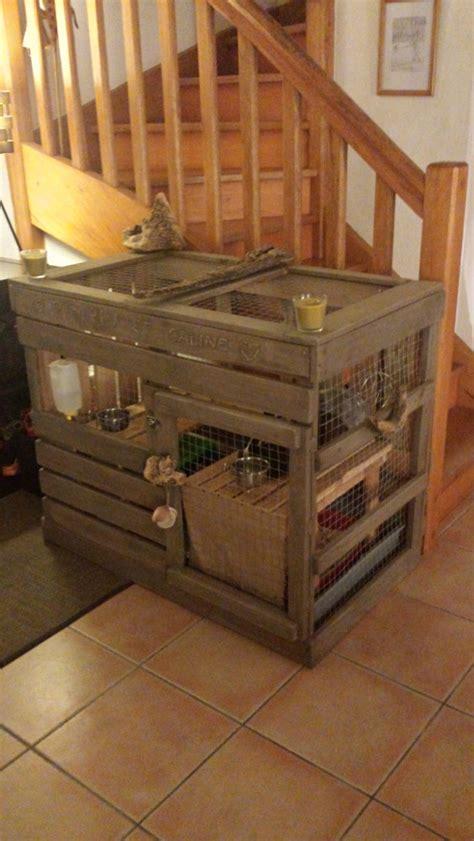 articles similaires 224 cage 224 lapin de type cabane en bois massif de palettes et d 233 coration
