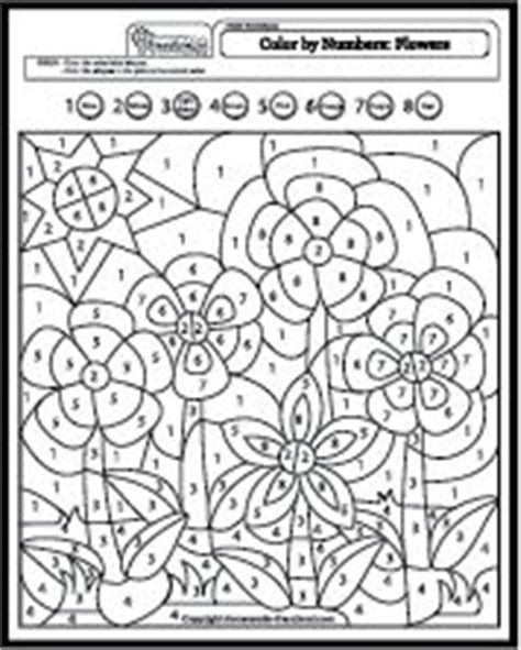 Free Solve And Color Math Worksheets  Multiplication Free Worksheets And Activities Maths