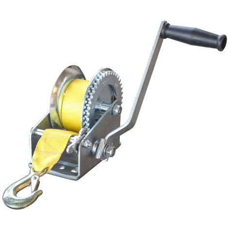 Boat Hand Winch by Sportsman 2 500 Lbs Hand Winch With Hook 801828 The