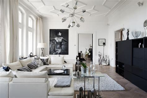 black and white living room ideas