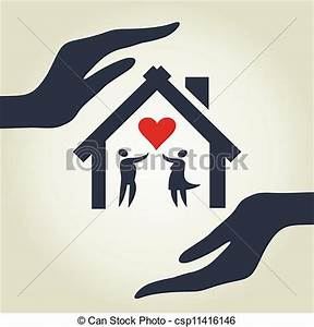 Casa Amore De : eps vector de casa amor el casa para amor en manos un vector csp11416146 buscar ~ Markanthonyermac.com Haus und Dekorationen