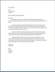 lettre de motivation chef cuisinier lettre de motivation