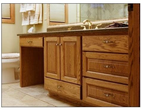 oak vanity w dressing table traditional bathroom milwaukee by a fillinger inc