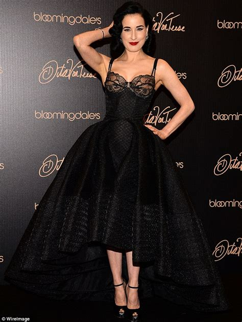 dita teese shows voluptuous at launch of new vintage inspired range