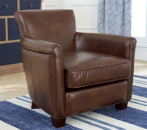 Pottery Barn Irving Chair by Lhuillier Mini Leather Irving Chair Pottery Barn