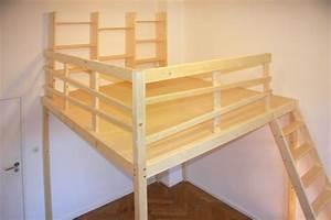 Günstig Bett Selber Bauen : hochbett hochebene hochbett pinterest hochbetten kinderzimmer und bett bauen ~ Markanthonyermac.com Haus und Dekorationen