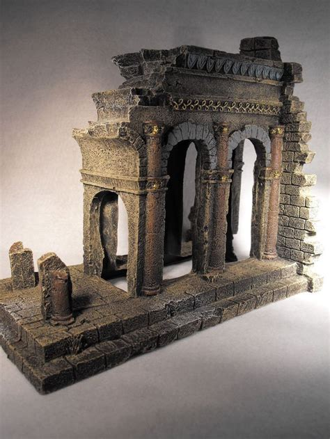 aquarium ornament ancient temple ruins fish tank large aquarium decoration aquarium