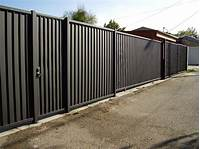 privacy fence panels Sheet Metal Privacy Fence Panels — Design & Ideas ...