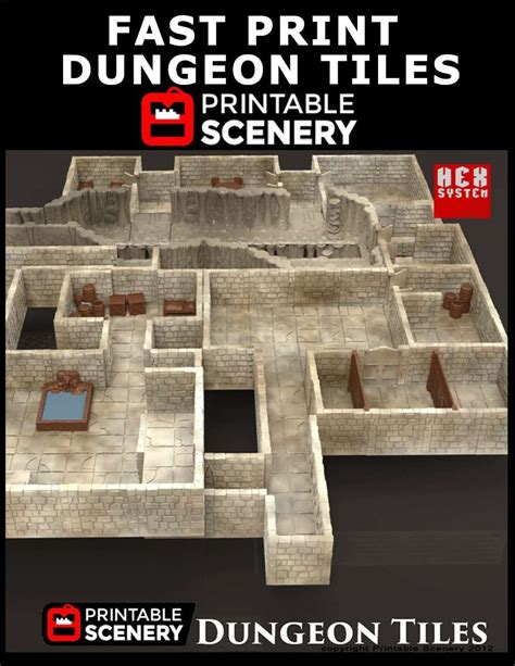 fast print dungeon tiles www printablescenery