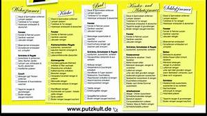 Wohnung Putzen Checkliste : putzplan f r den fr hjahrsputz ~ Markanthonyermac.com Haus und Dekorationen