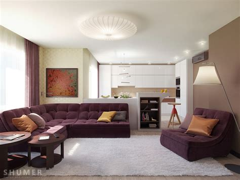 plum white taupe living room scheme pillow sofa modern