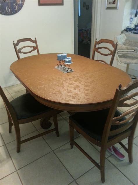 lenoir chair company kitchen table and small hutch my