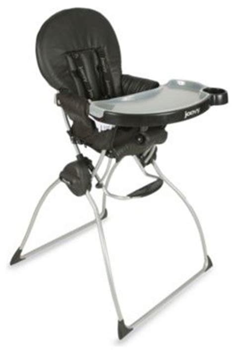 joovy nook high chair in black leatherette contemporary
