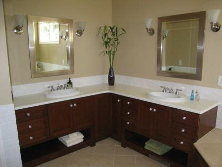 l shaped bathroom vanity this is more about the concept than the actual design which is not