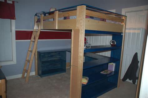loft bed desk plans plans free