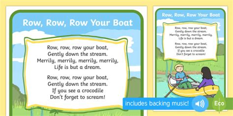 Row Your Boat Full Song by Row Row Your Boat Song Rhymes Display Nursery Rhyme