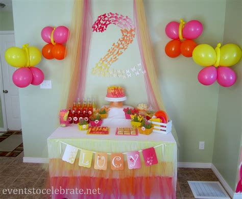Butterfly Themed Birthday Party Food & Desserts Events