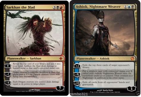 ashiok nightmare weaver sarkhan the mad 20 random rares mtg gift set lot lol drawing