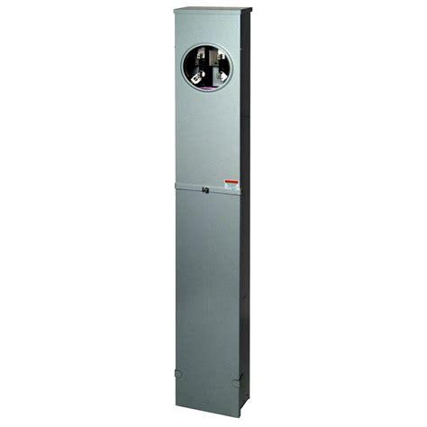 Square D 200 Amp Underground Pedestal Meter Socket
