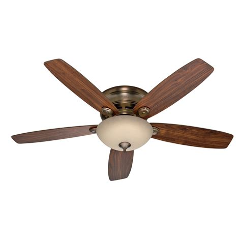 Low Profile Ceiling Fan by Shop 52 In Low Profile Iv Plus Led Brushed Bronze