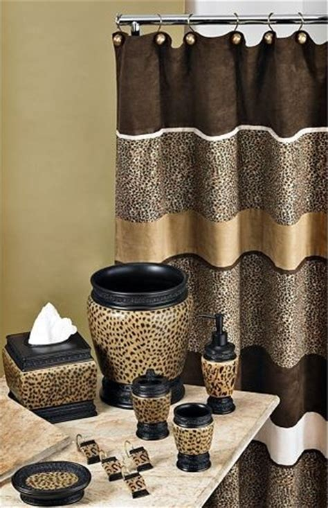 leopard print bathroom decor set cheetah bathroom set curtain etc home interiors