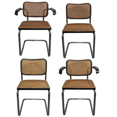 four marcel breuer cesca dining chair for knoll at 1stdibs