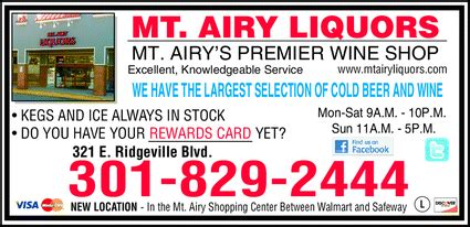 mt airy liquors mount airy md 21771 5217 yellowbook