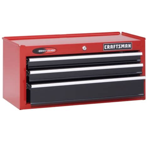 new craftsman 26 quot wide 3 drawer glide top chest black ebay
