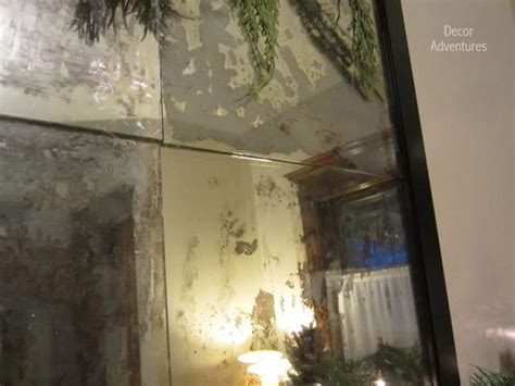 how to antique mirror using paint and