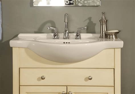 empire industries 34 quot shallow depth vanity with ceramic sinktop w34