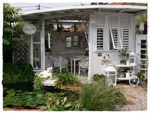 Gartenhaus Shabby Chic : shabby landhaus vorher nacher garten laube gartenhaus pinterest garten ~ Markanthonyermac.com Haus und Dekorationen