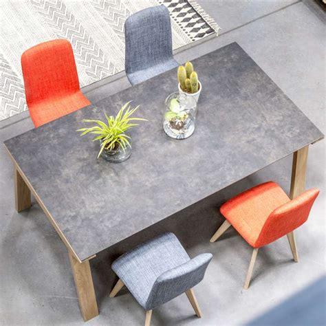 table de salle 224 manger en c 233 ramique rectangulaire cera concept v 4 pieds tables chaises