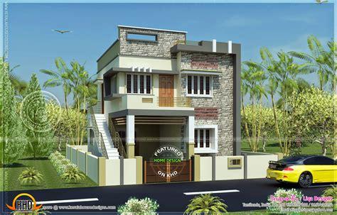 1289 Sq Ft, 4 Bedroom Modern Tamil House Design