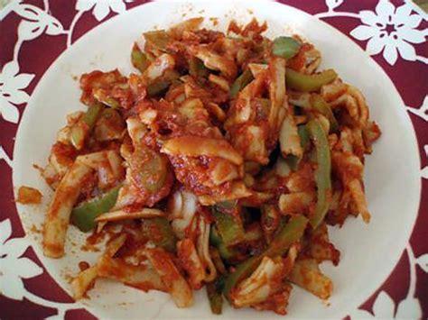 recette de p 226 tes aux poivrons verts et tomates