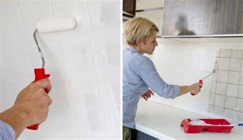 repeindre le carrelage d une cr 233 dence de cuisine c 244 t 233 maison