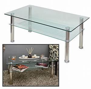 Küchentisch 60 X 60 : neuer glastisch 109 x 60 cm wohnzimmer couch tisch 10 mm glas und edelstahl neu ebay ~ Markanthonyermac.com Haus und Dekorationen
