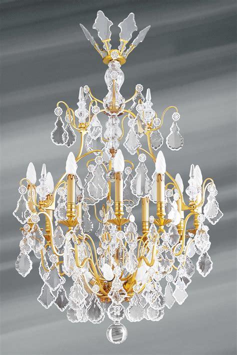 lustre dor 233 cristal de boh 232 me louis xvi forme cage quinze lumi 232 res lucien gau luminaires