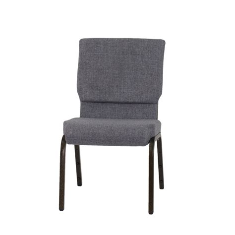 hercules series 18 5 w stacking church chair in gray fabric gold vein frame xu ch 60096