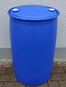 Maße 200 L Fass : fass tonne wasserfass regenwasserfass spundfass 200 l blau kunststoff ebay ~ Markanthonyermac.com Haus und Dekorationen