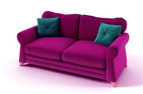 canap 233 3 places en tissu de qualit 233 tomy fuschia mobilier priv 233