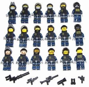 Lego SWAT Team Minifigures Men Figures Army Police Squad ...