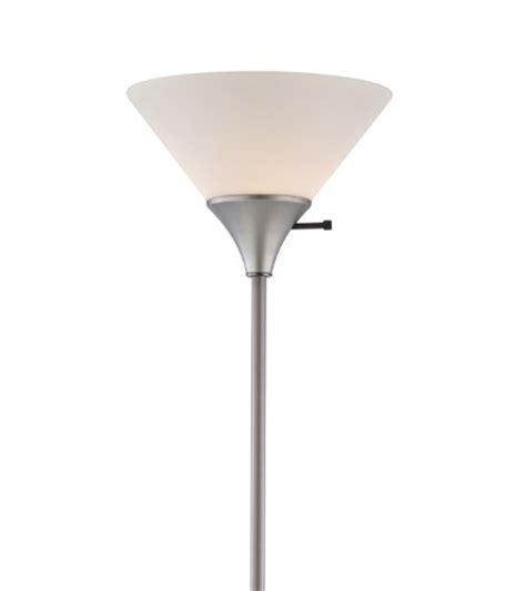 wilburn home design 150 watt floor l silver finish with white plastic shade