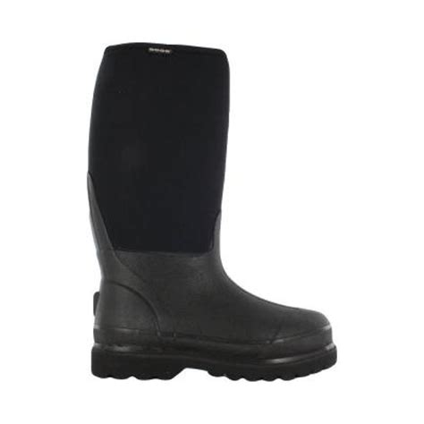 Rubber Boots Home Depot by Bogs Rancher Men 16 In Size 5 Black Rubber With Neoprene