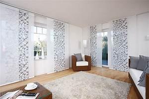 Schiebegardinen Weiß Mit Muster : fl chenvorh nge die gardine ~ Markanthonyermac.com Haus und Dekorationen