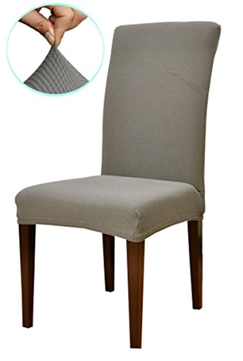 subrtex knit stretch dining room chair slipcovers 4 gray knit rings n rollers