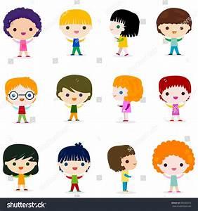 Happy Kids Character Set Design Stock Vector 386082010 ...