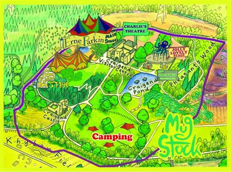 Site Map And Guide For Mugstock Music Festival From Kat