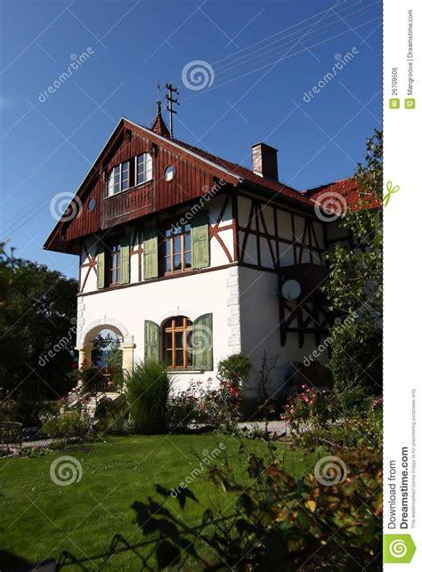 maison traditionnelle en allemagne image libre de droits image 26709506