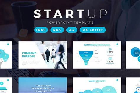 startup powerpoint template to create a professional pitch deck