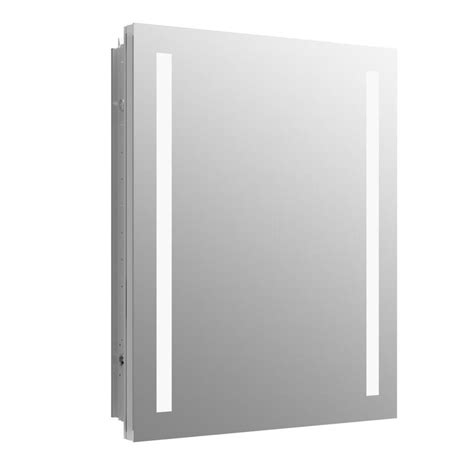 shop kohler verdera 24 in x 30 in rectangle recessed aluminum mirrored medicine cabinet with